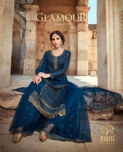 Mohini Fashion Glamour Vol 90 Georgette With Embroidery Work Dress Material Collection