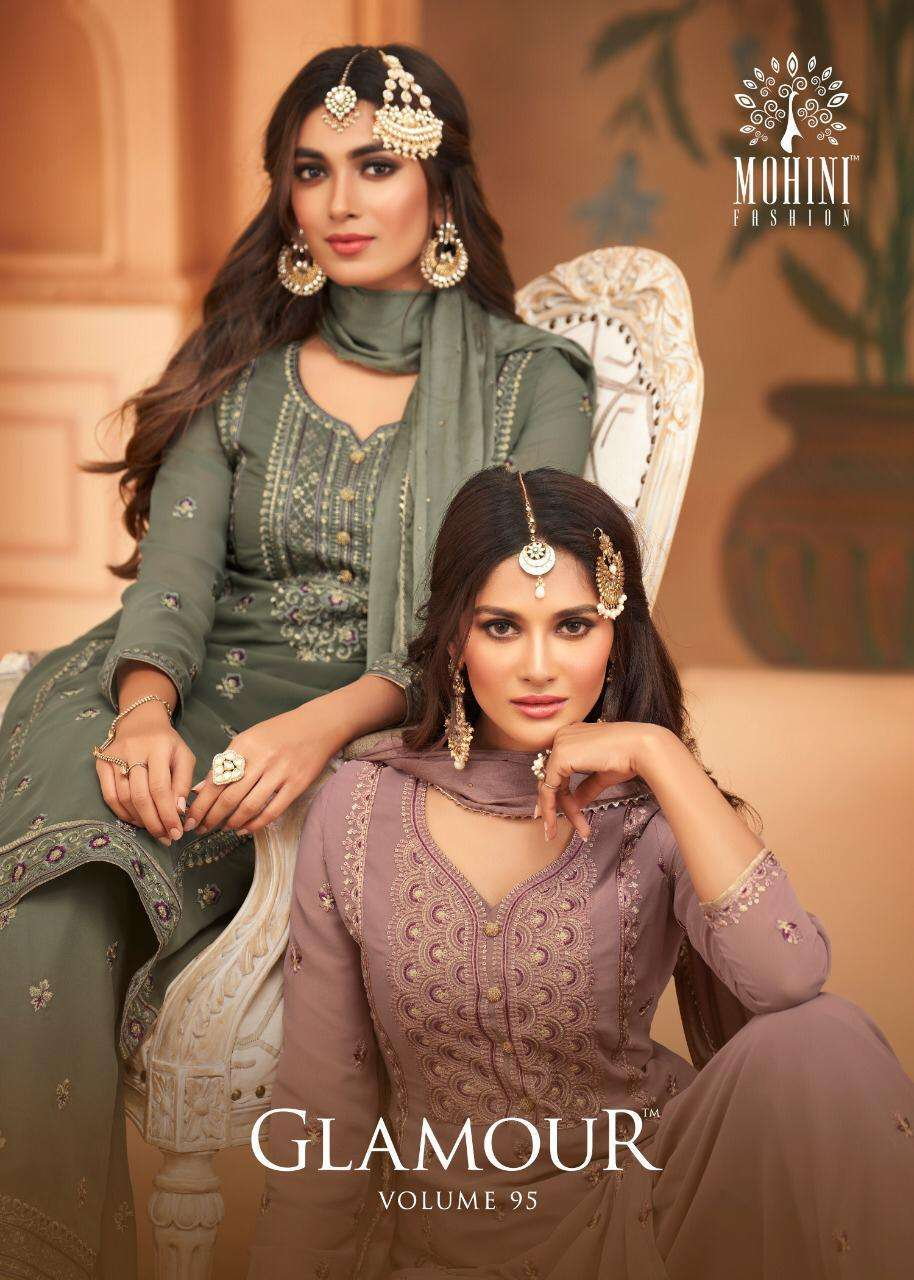 Mohini Fashion Glamour Vol 95 Georgette With Embroidery Work Dress Material Collection