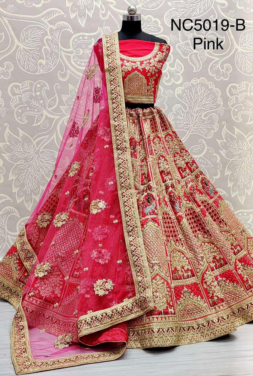 NC5019 slub silk designer bridal wear lehenga choli collection  02