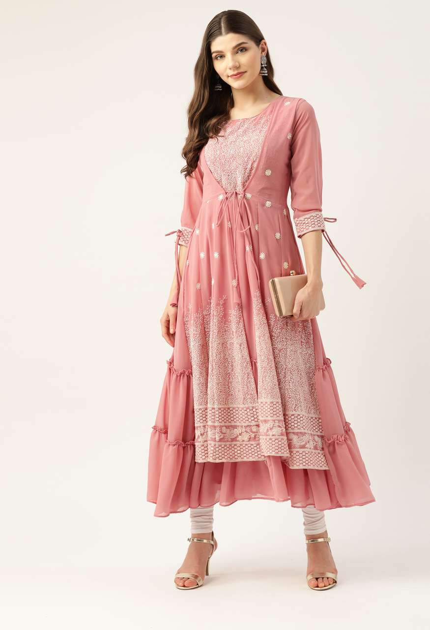 Nimba Georgette With Embroidery Sequence Work Anarkali Gown Collection