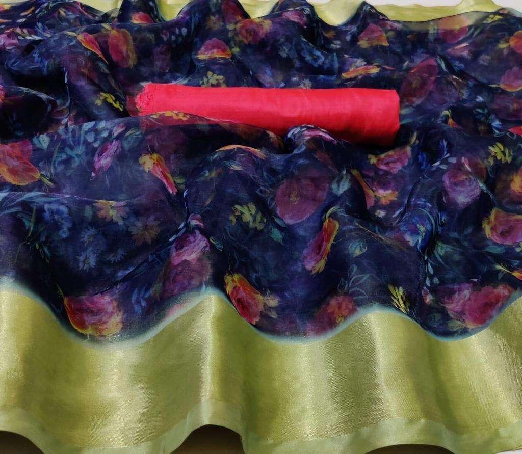 Organza With Weaving Border saree collection 01
