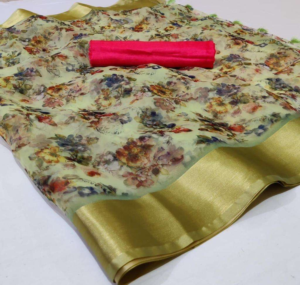Organza With Weaving Border saree collection 02