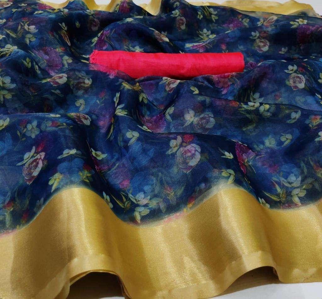 Organza With Weaving Border saree collection 03