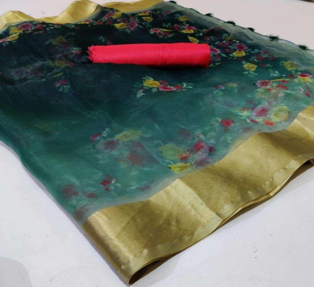 Organza With Weaving Border saree collection 05