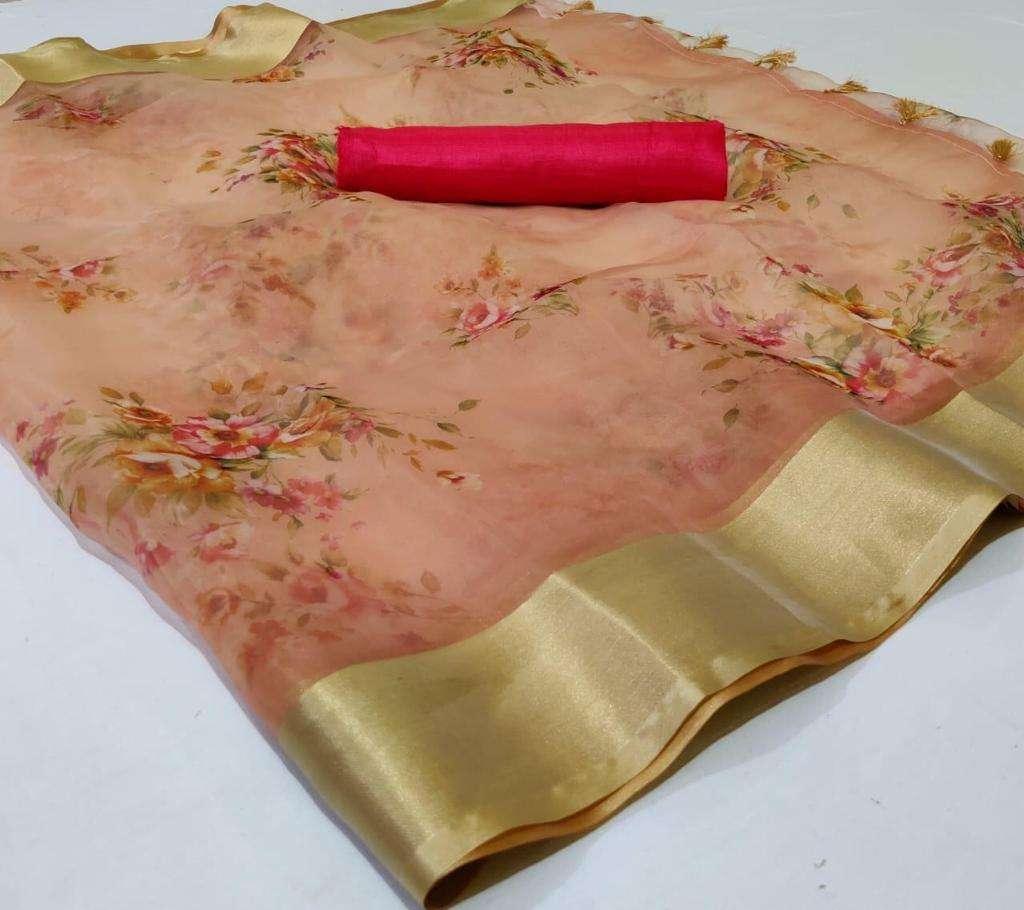 Organza With Weaving Border saree collection 06