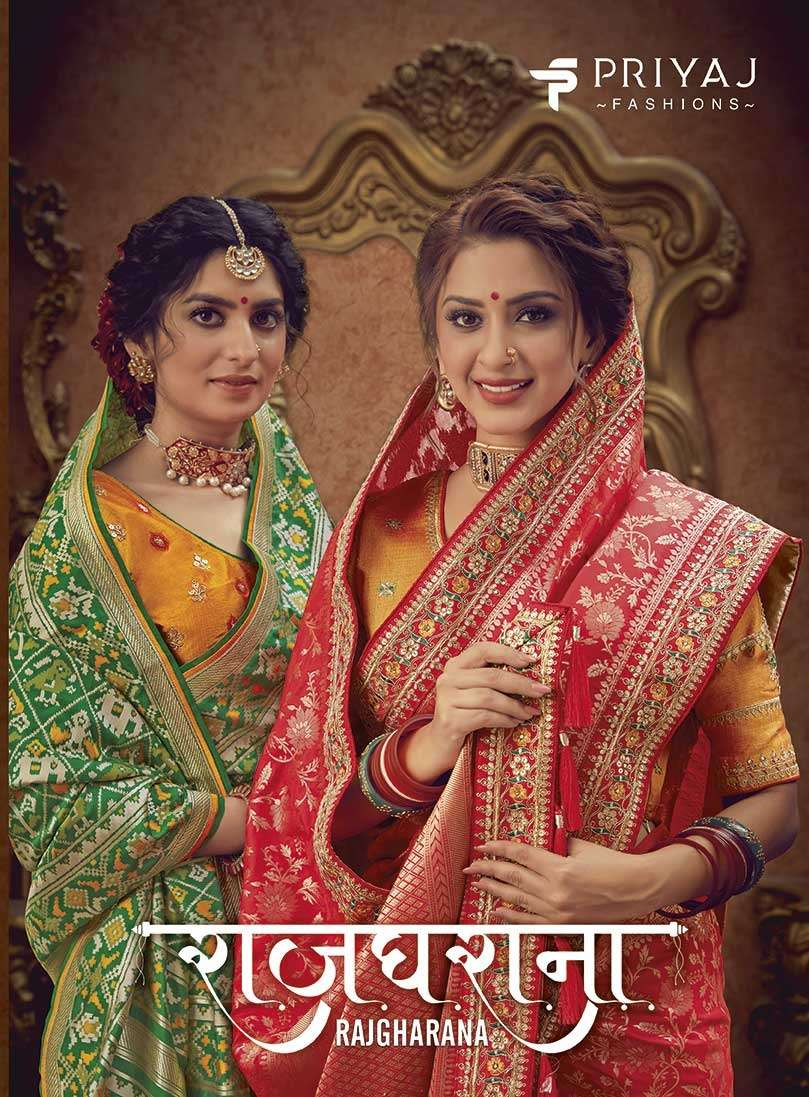 Priyaj Rajgharana Silk Heavy Designer Sarees Collection