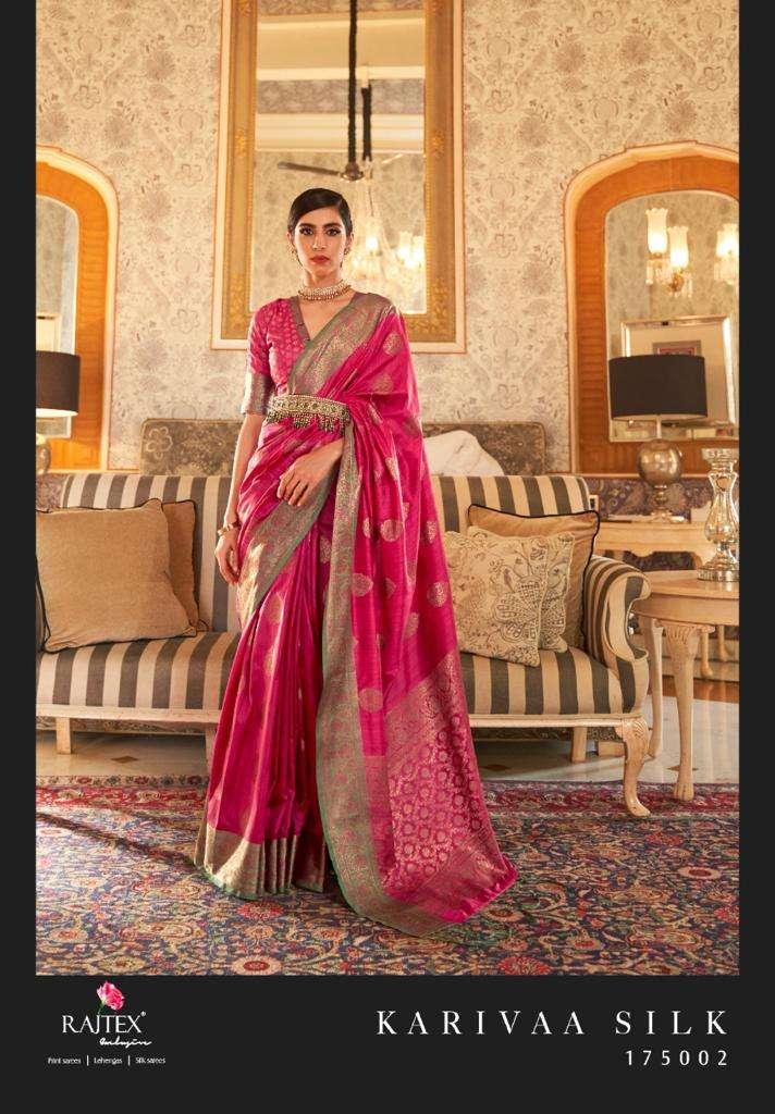 Rajtex Karivaa silk Tussar Silk Weaving Sarees collection