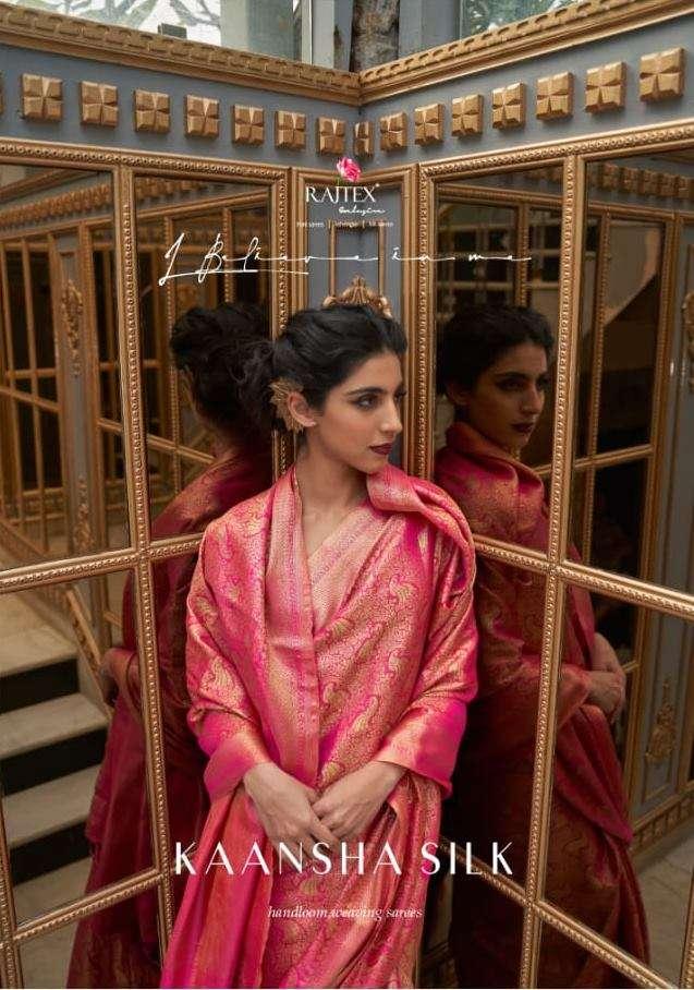 Rajtex Sarees Kaansha Silk Banarasi Silk With Soft Zari Weaving Border Sarees Collection
