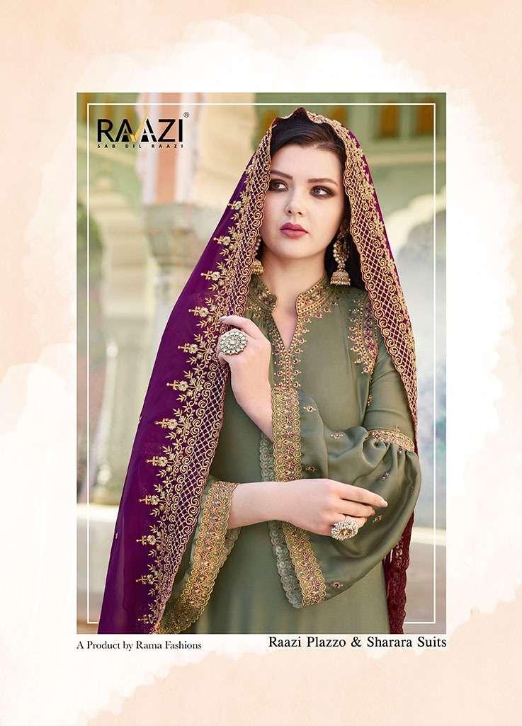 Rama Raazi Vol 11 heavy Satin with Embroidery Work Salwar Kameez Collection