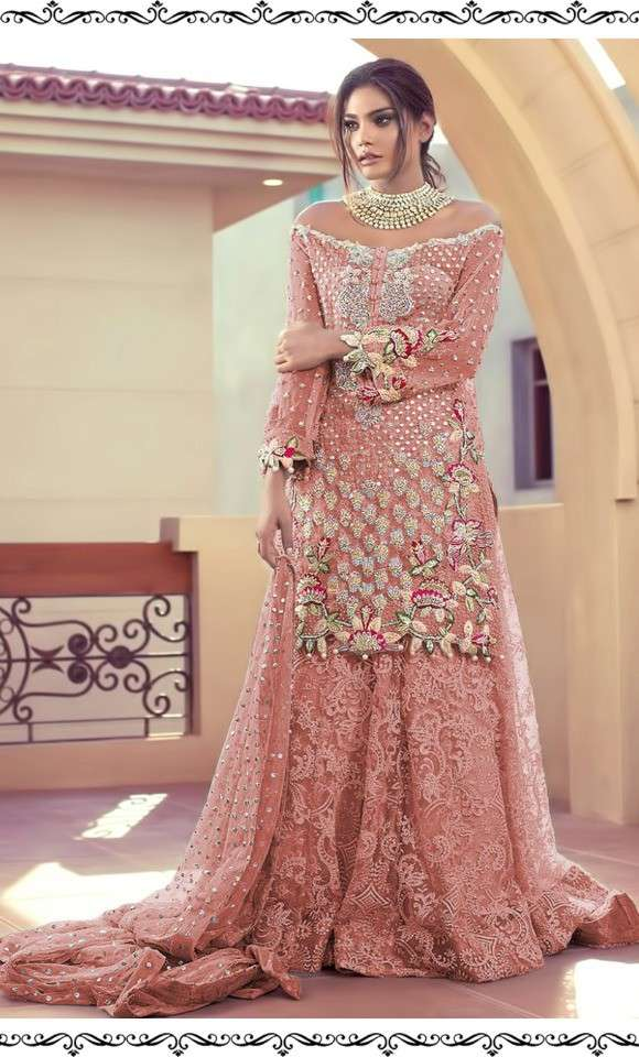 Ramsha Imrozia NX Net With heavy Embroidery Work Pakistani Suits Collection