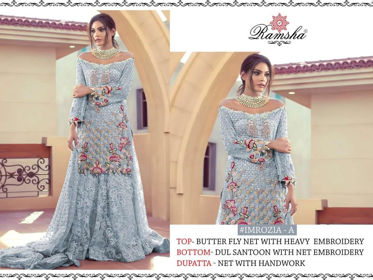 Ramsha Imrozia Nx with embroidery wotk pakisatni suit collection 01