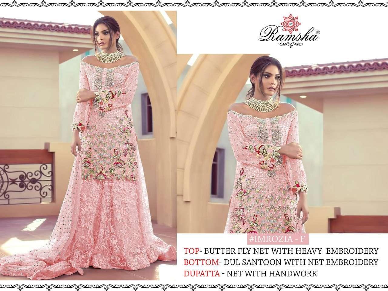 Ramsha Imrozia Nx with embroidery wotk pakisatni suit collection 03