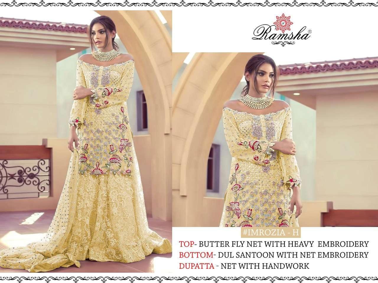 Ramsha Imrozia Nx with embroidery wotk pakisatni suit collection 07