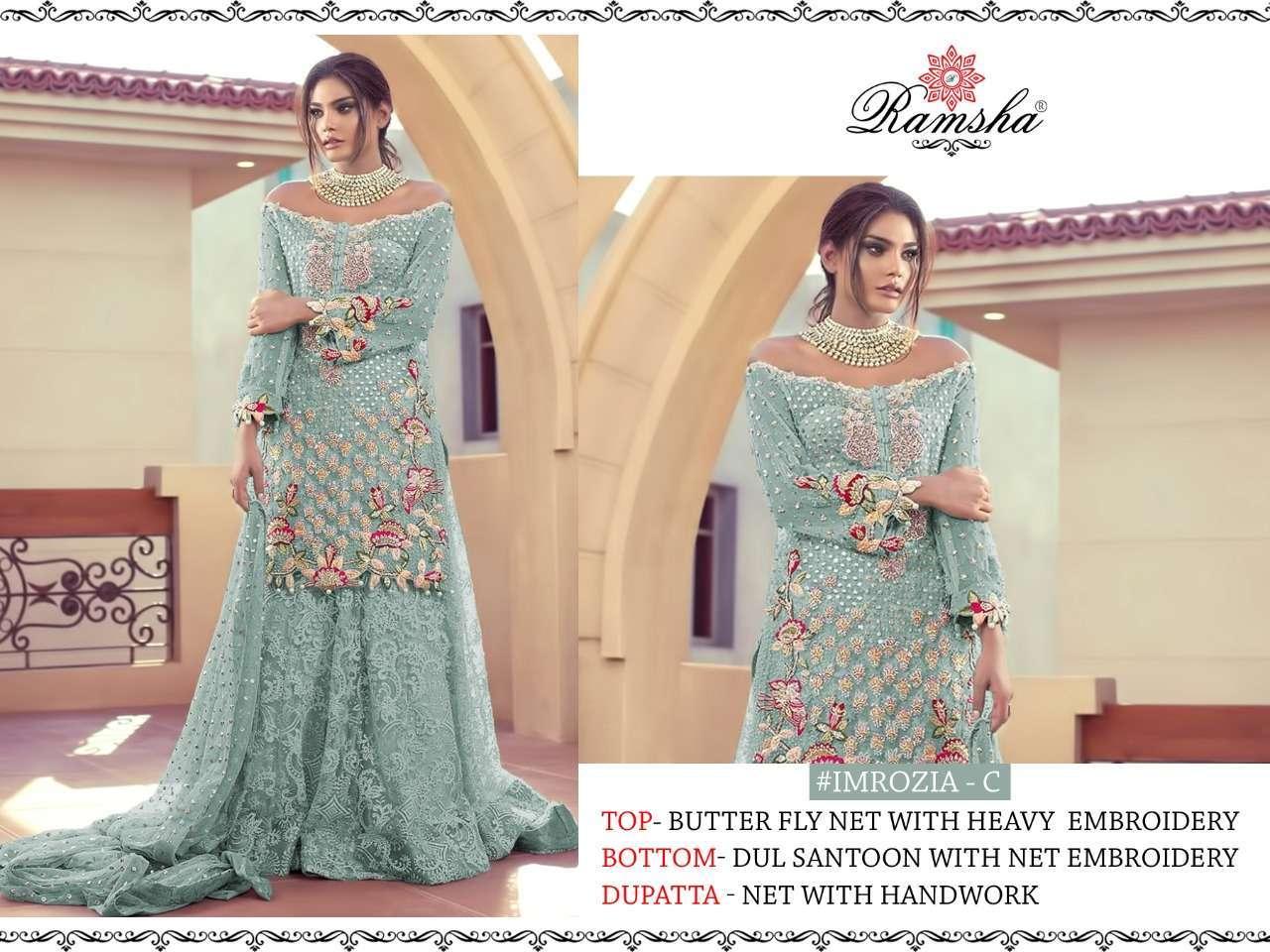 Ramsha Imrozia Nx with embroidery wotk pakisatni suit collection 08