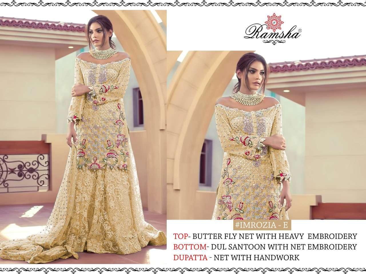 Ramsha Imrozia Nx with embroidery wotk pakisatni suit collection 5