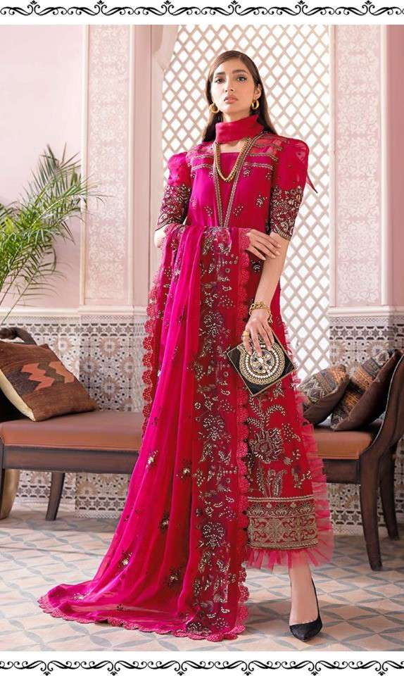 Ramsha Vol 10 Georgette With Embroidery Work Pakistani Suits Collection At Wholesale Rate