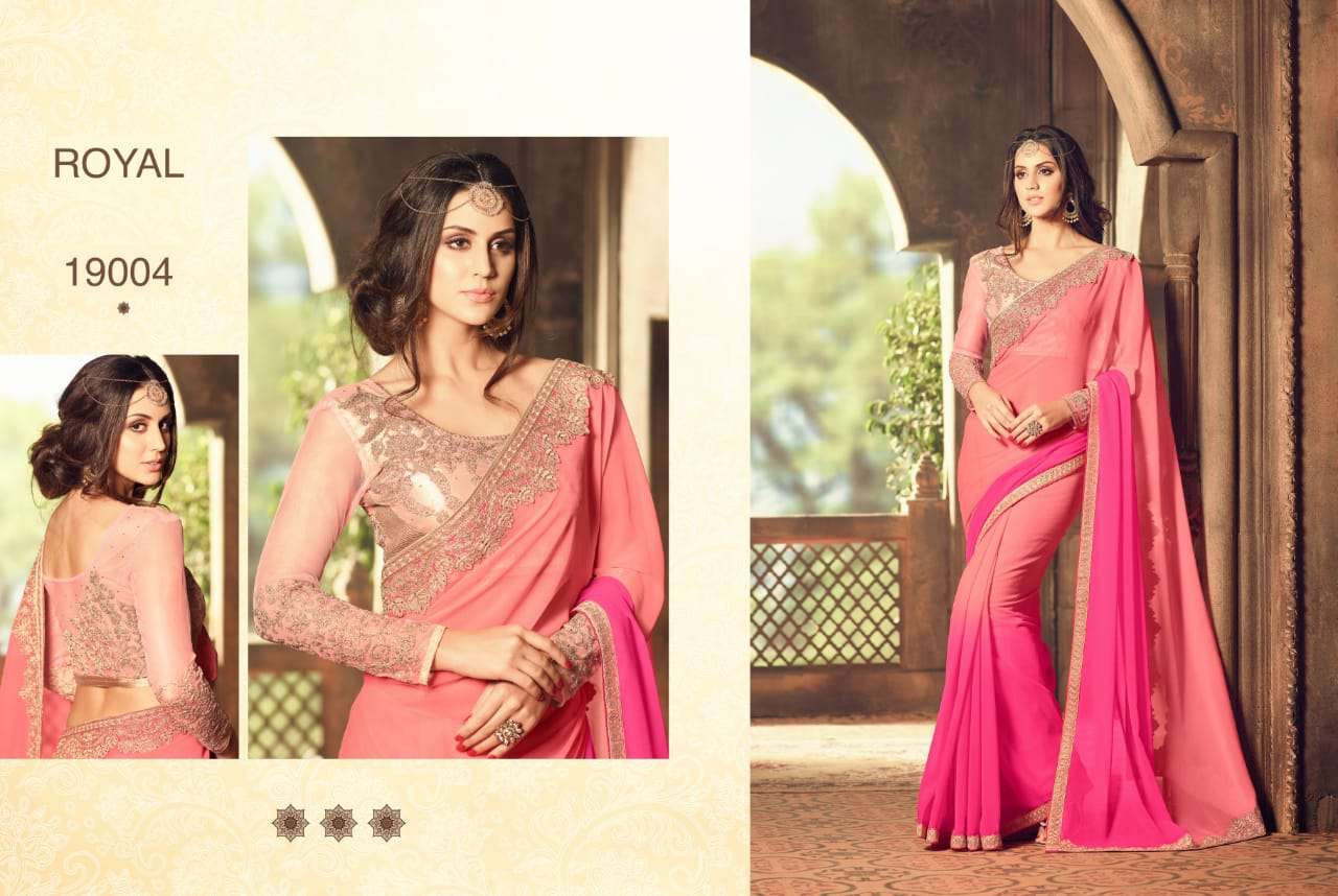 ROYAL fancy party wear saree collection 02