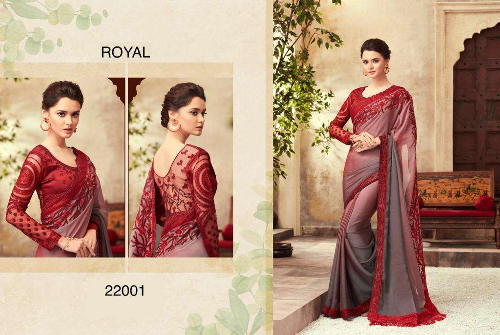 ROYAL fancy party wear saree collection 03
