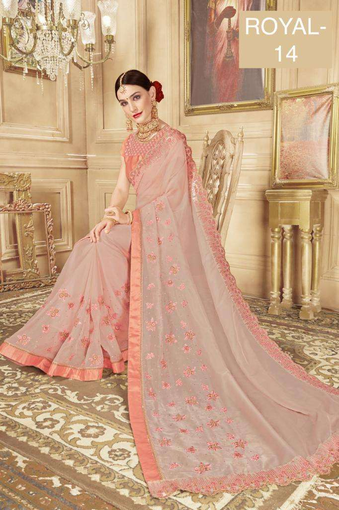 ROYAL fancy party wear saree collection 04
