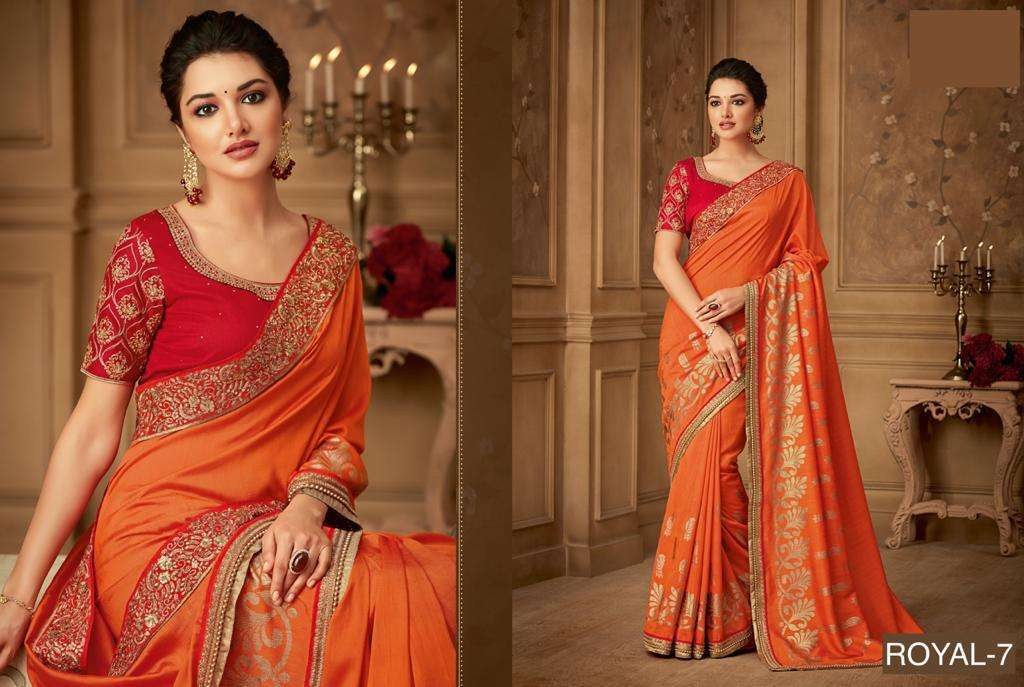 ROYAL fancy party wear saree collection 06