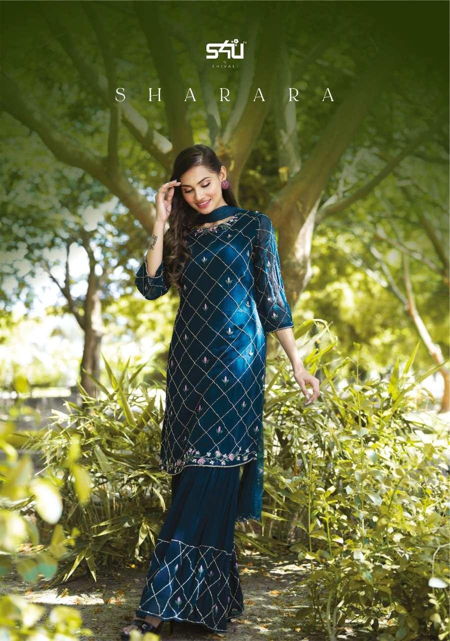S4u Shivali Sharara Silk With Georgette Fancy Designer Wedding Wear Sarara Suits Collection