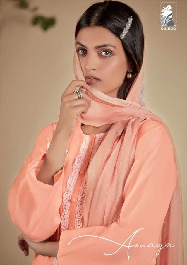 Sahiba Amaya Cambric Cotton With embroidery Work Salwar Kameez Collection