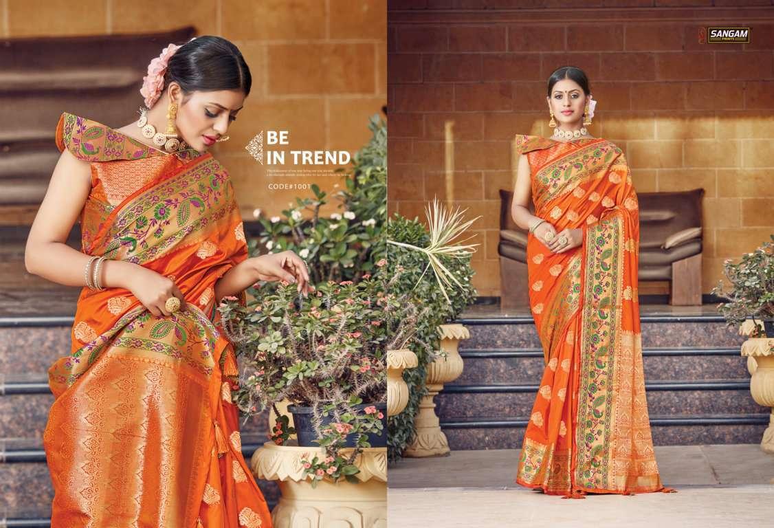 Sangam Prints Tanvika Silk Traditional Sarees Collection 01