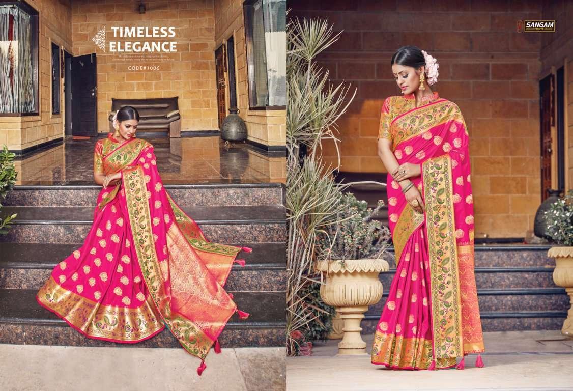 Sangam Prints Tanvika Silk Traditional Sarees Collection 02