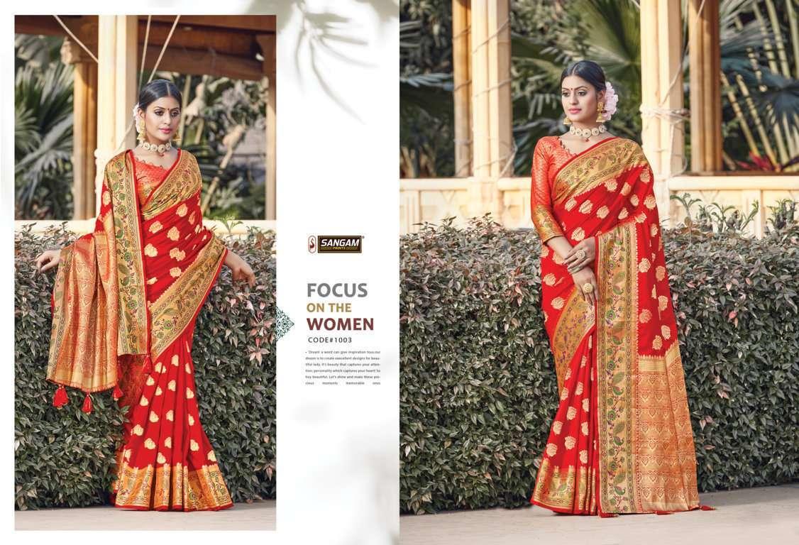 Sangam Prints Tanvika Silk Traditional Sarees Collection 03