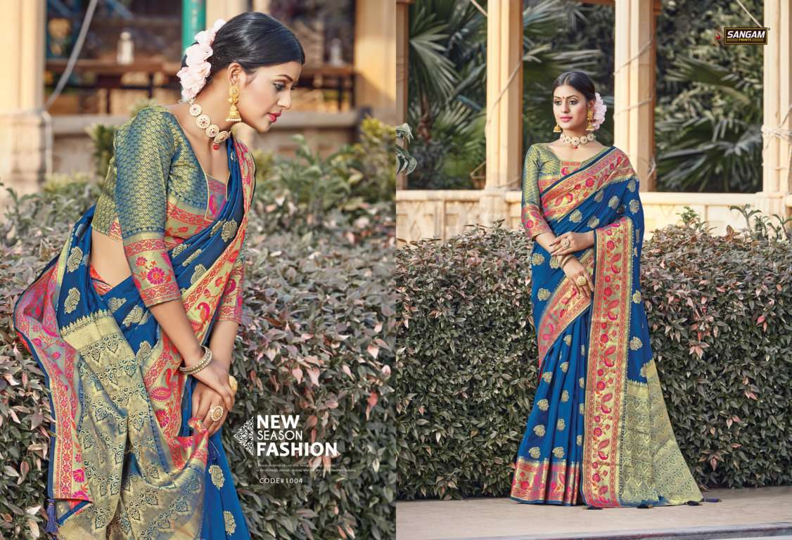 Sangam Prints Tanvika Silk Traditional Sarees Collection 04