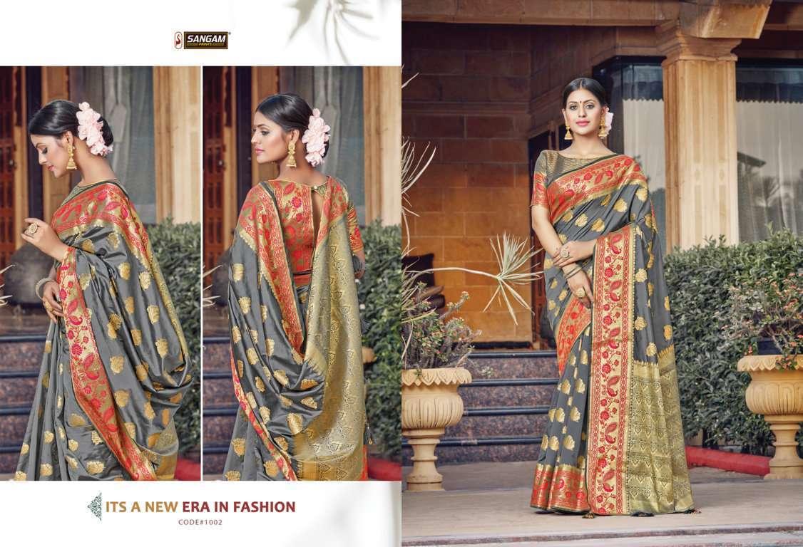 Sangam Prints Tanvika Silk Traditional Sarees Collection 05