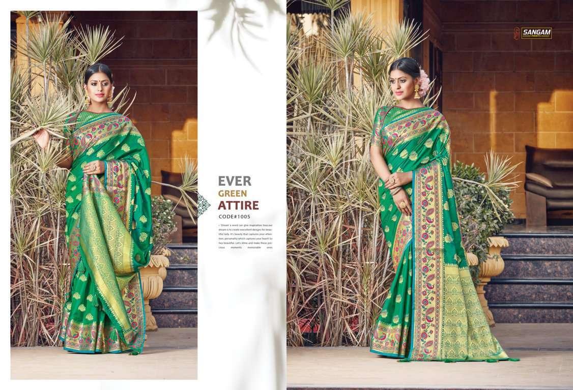 Sangam Prints Tanvika Silk Traditional Sarees Collection 06