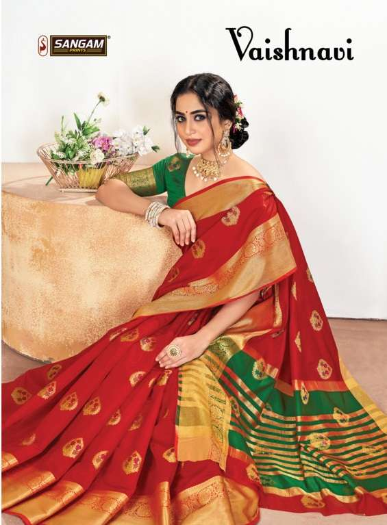 sangam prints Vaishanavi Silk traditional Sarees Collection