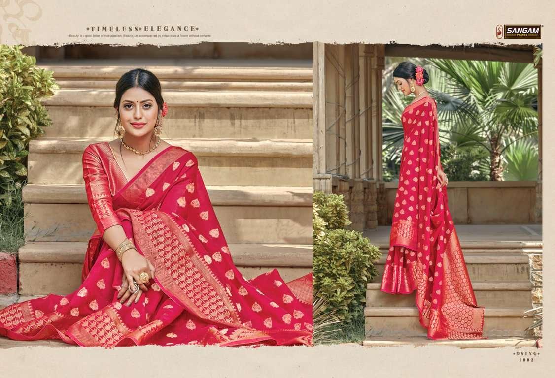 Sangam Prints Vartika Handloom Cotton Sarees Collection 05