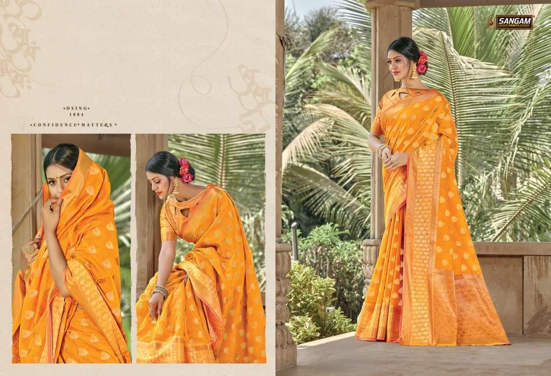 Sangam Prints Vartika Handloom Cotton Sarees Collection 06
