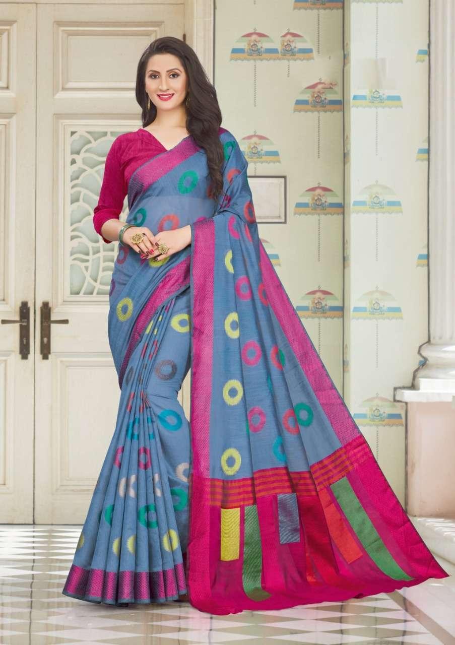 Sangam Prints Vedika Handloom Cotton Sarees Collection 01