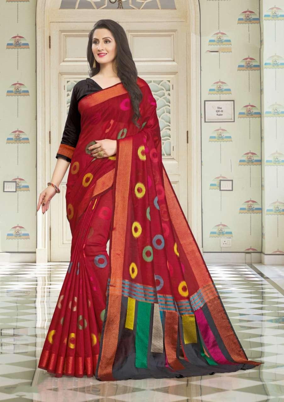 Sangam Prints Vedika Handloom Cotton Sarees Collection 05