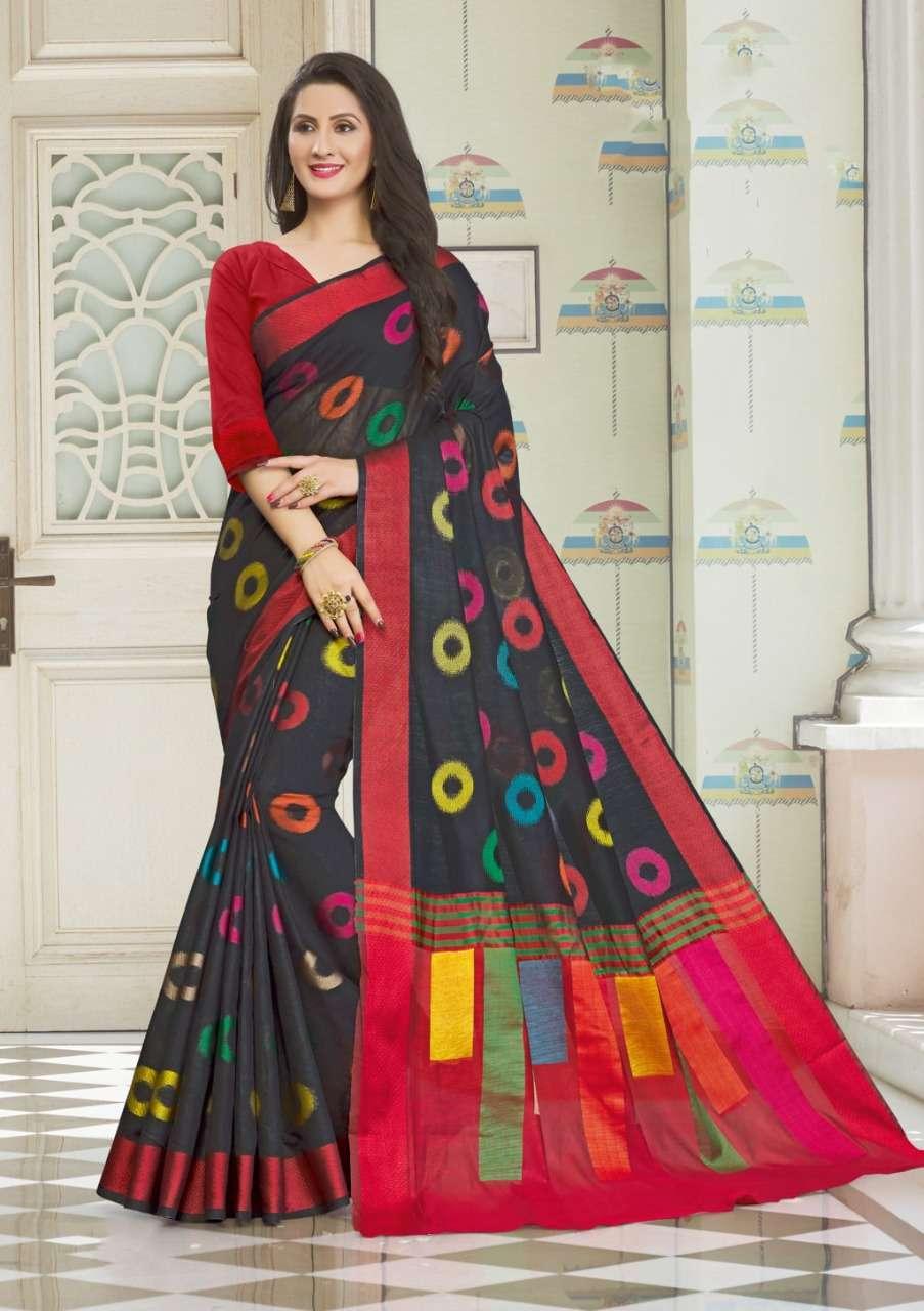 Sangam Prints Vedika Handloom Cotton Sarees Collection 06