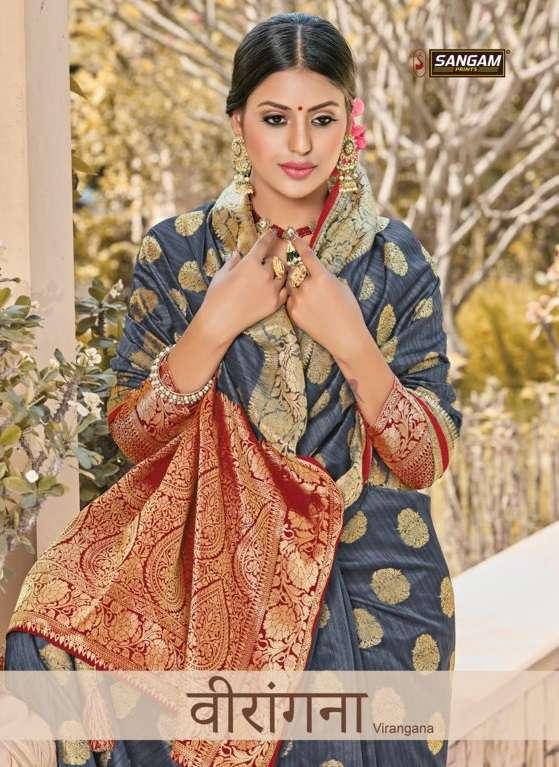 Sangam Prints Veerangna Silk Traditional Sarees Collection