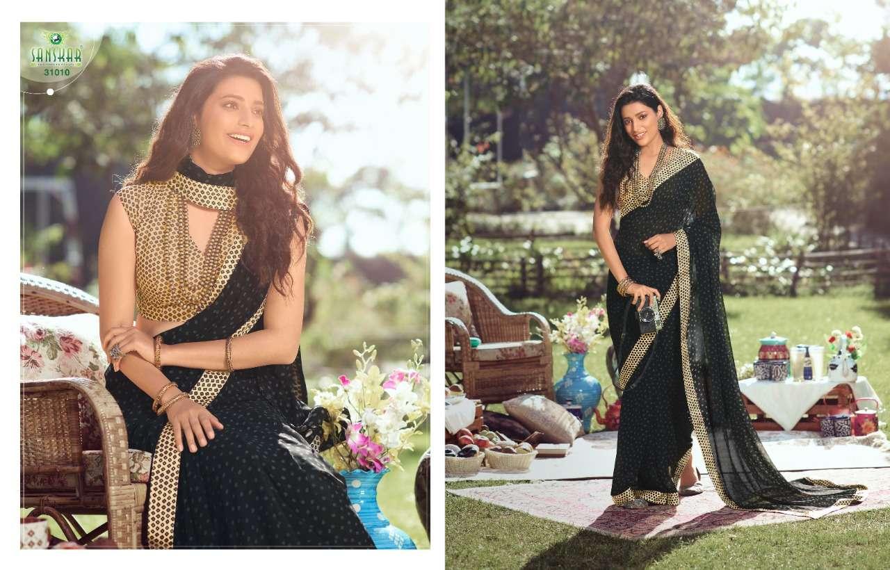 sanskar nadira vol 2 georgette with printed saree collection  06