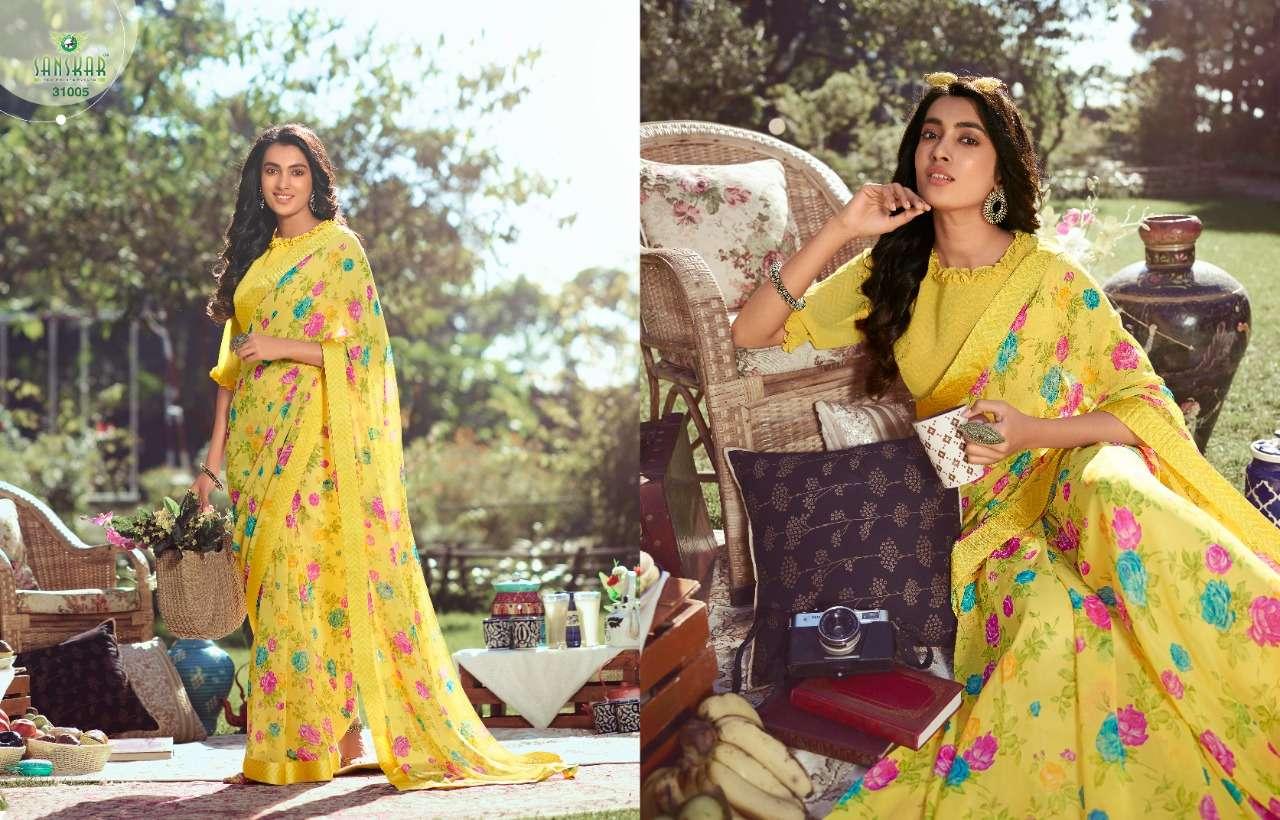 sanskar nadira vol 2 georgette with printed saree collection  08