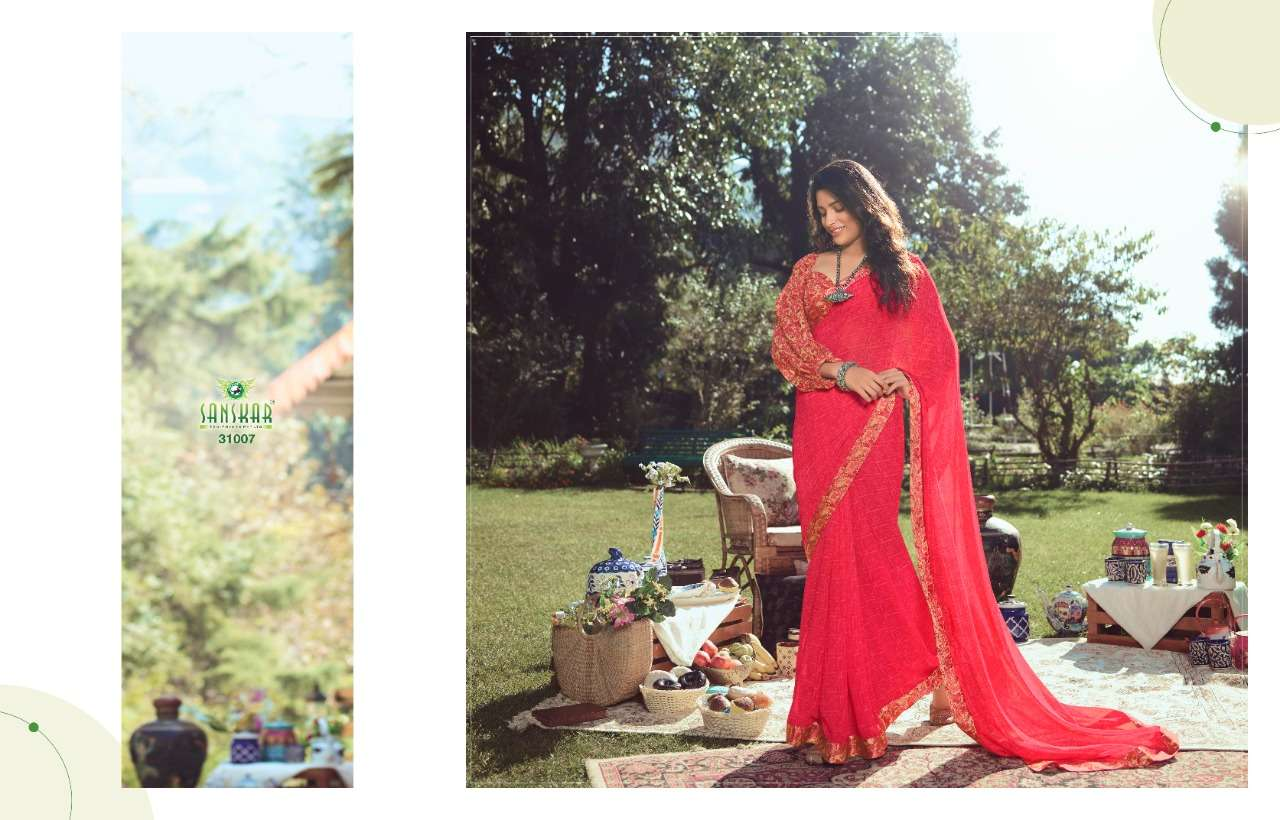 sanskar nadira vol 2 georgette with printed saree collection  09