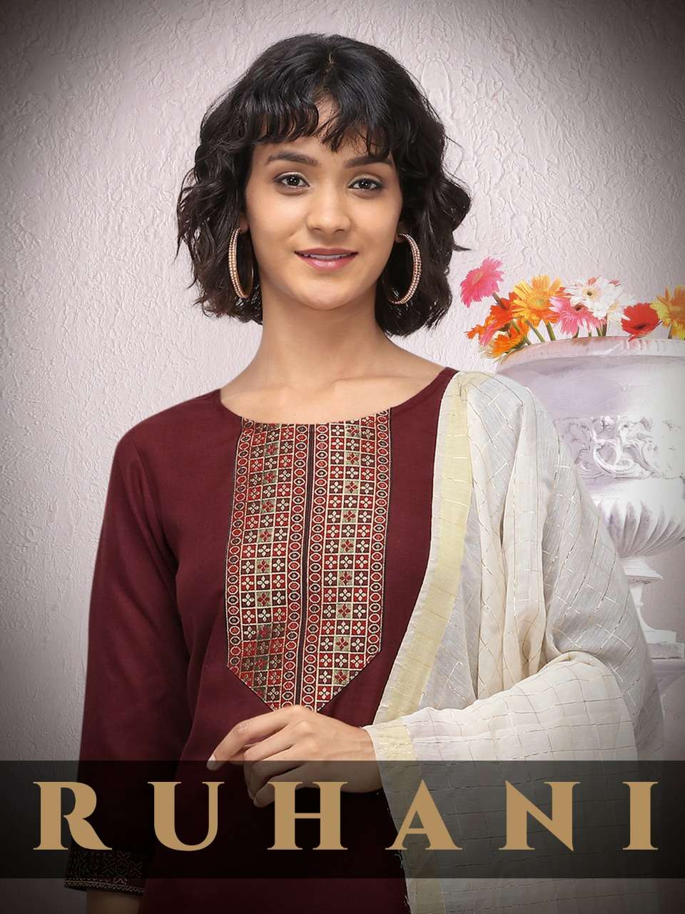 Saysi Fashion Ruhani Cotton jacquard Kurti with Pant Dupatta Collection