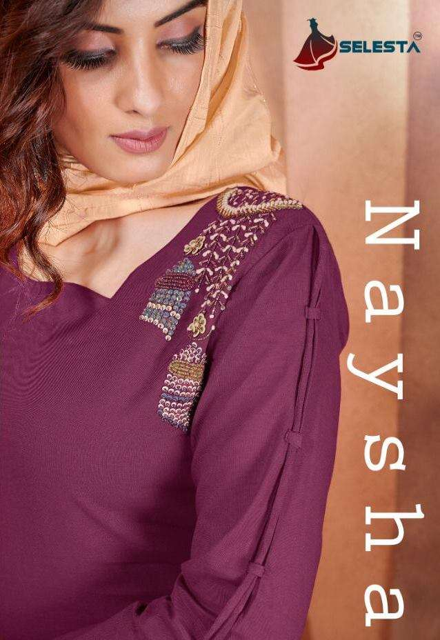 SELESTA NAYSHA PURE COTTON WITH HAND WORK KURTI WITH BOTTOM WITH DUPATTA COLLECTION