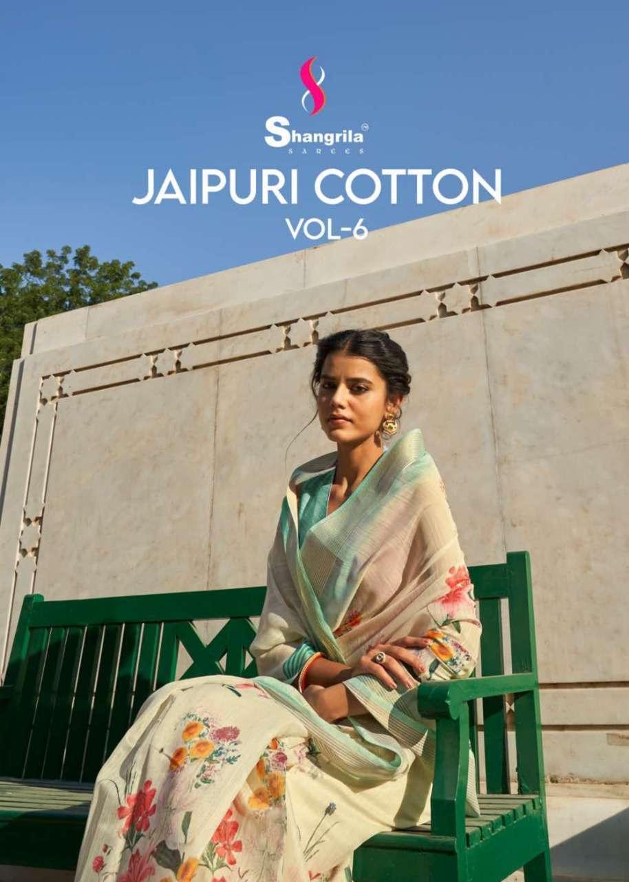 Shangrila Jaipuri Linen Vol 6 Linen Cotton Handloom Art Silk Sarees Collection