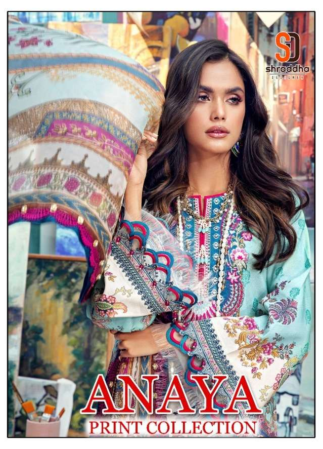 Shraddha Designer Anaya Print Collection Lawn Cotton print With embroidery Work Pakistani Suits Collection