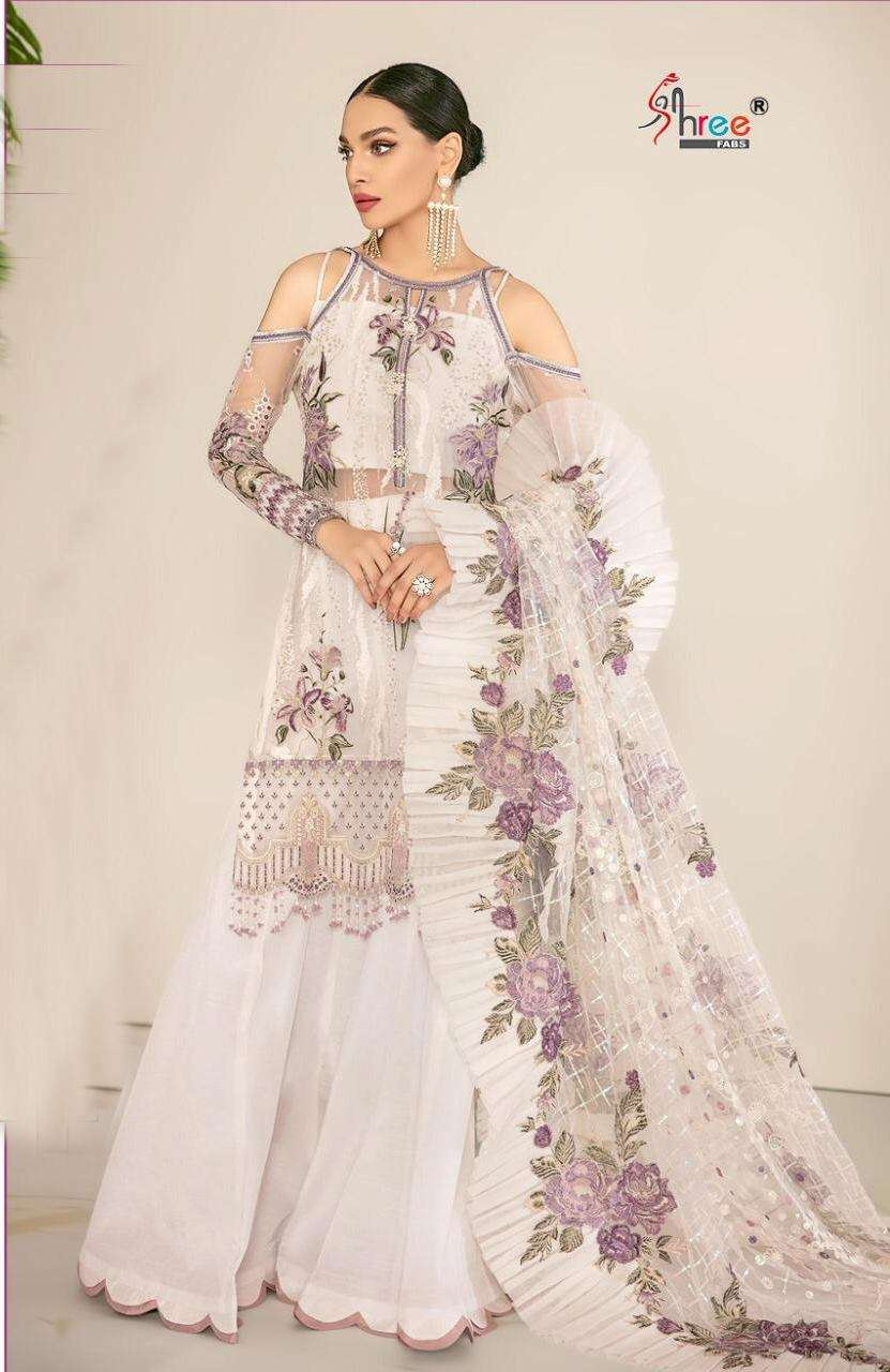 Shree Fab S 274 Faux Georgette With Embroidery Work Pakistani Suits Collection