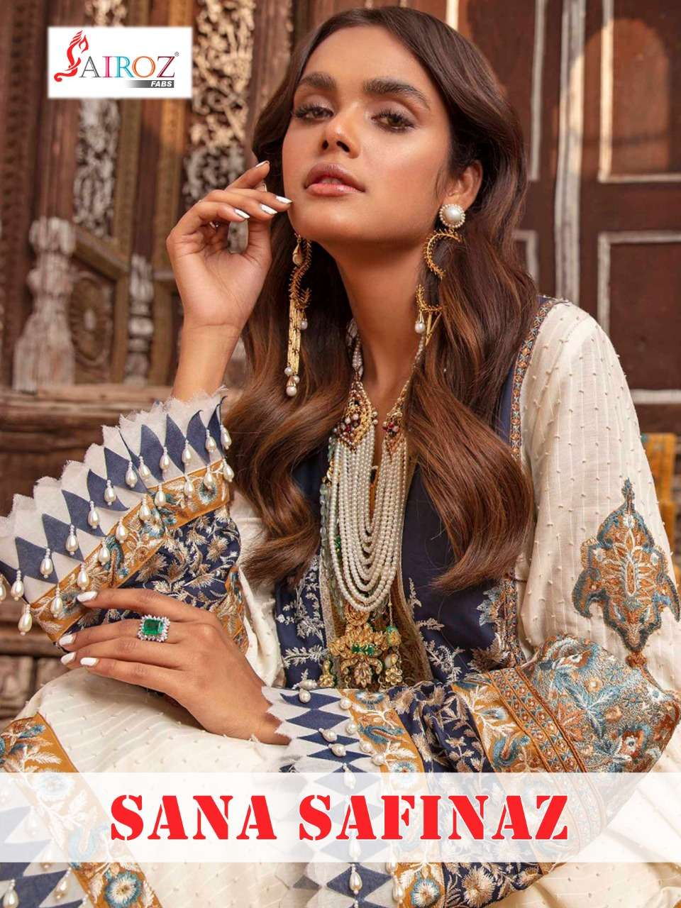 Shree fabs Sairoz Fabs Sana Safinaz Cotton digital print With embroidery Work Pakistani Suits Collection