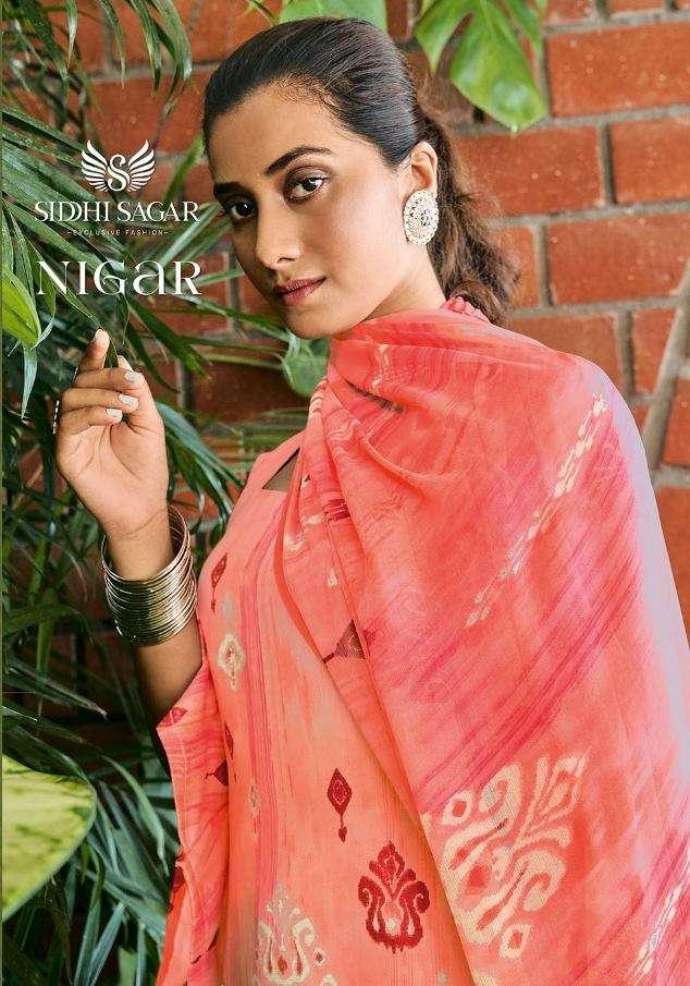 Siddhi Sagar Nigar Cotton Satin Print Dress Material collection
