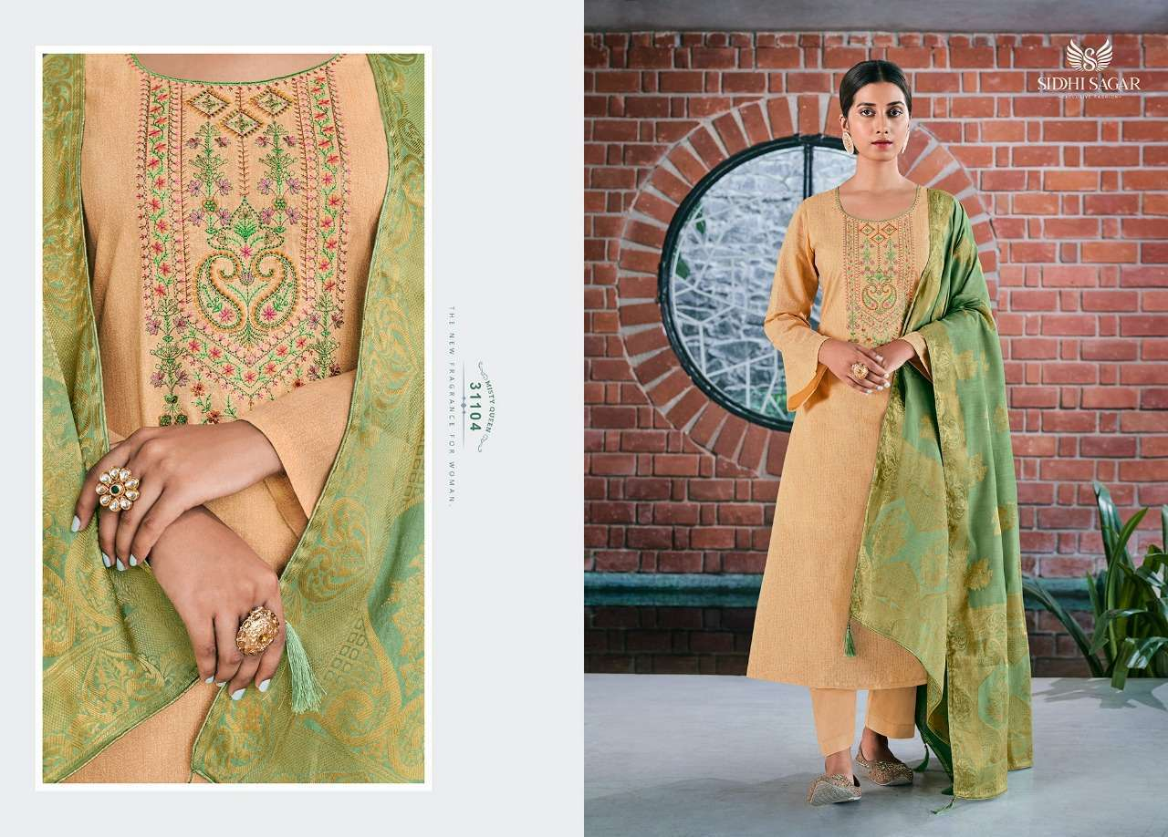 Siddhi Sagar Niramya Pure Cotton With Fancy Embroidery Work Dress Material Collection 006
